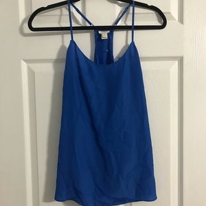 blue polyester tank top